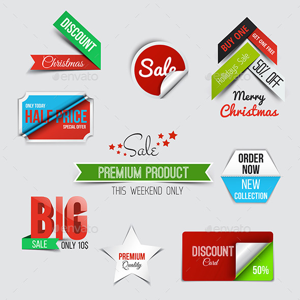 GraphicRiver Collection of Sale Discount Styled Origami Banners 9826007
