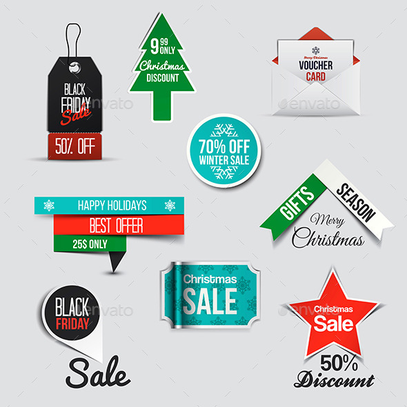GraphicRiver Collection of Sale Discount Styled Banners 9826013