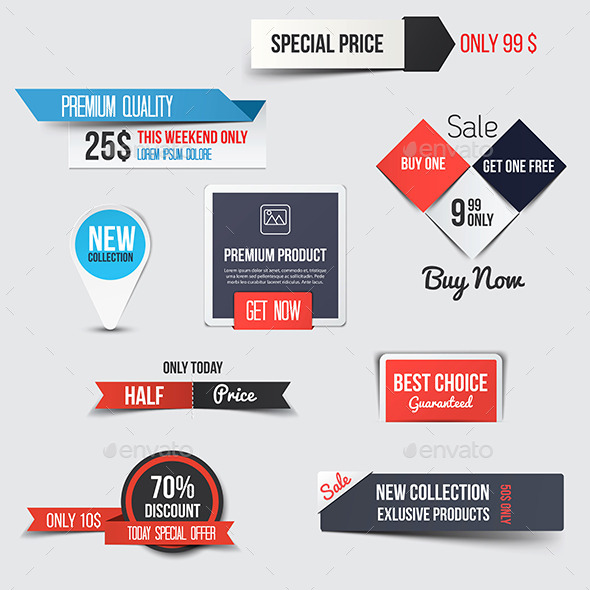 GraphicRiver Collection of Sale Discount Styled Banners 9826019