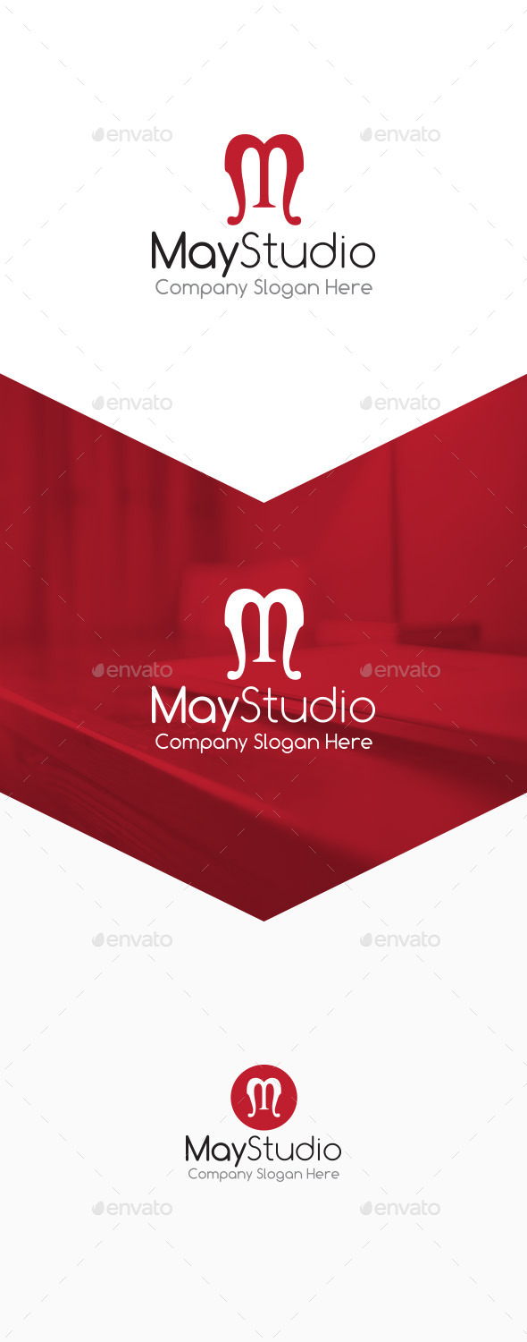 GraphicRiver May Studio M Letter Logo 9826060