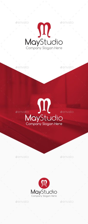 GraphicRiver May Studio M Letter Logo 9826060