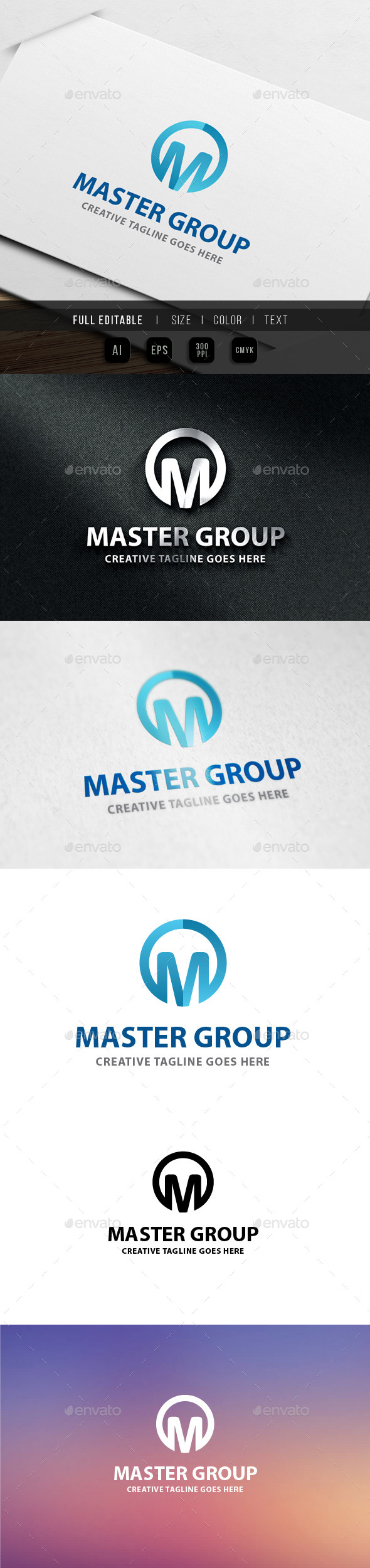 GraphicRiver Master Group Letter M 9826194