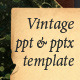 Vintage paper presentation template - GraphicRiver Item for Sale