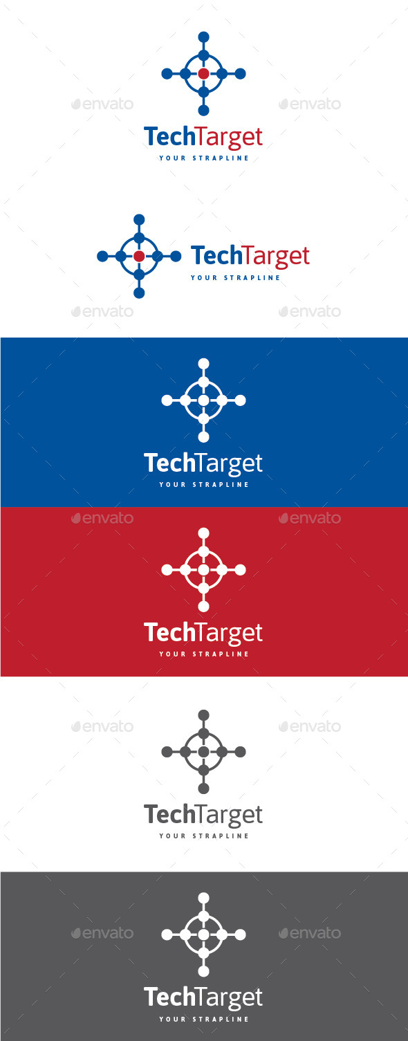GraphicRiver Tech Target Logo 9826243