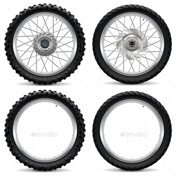 GraphicRiver Vector Motorcycle Wheel Icons 9826265