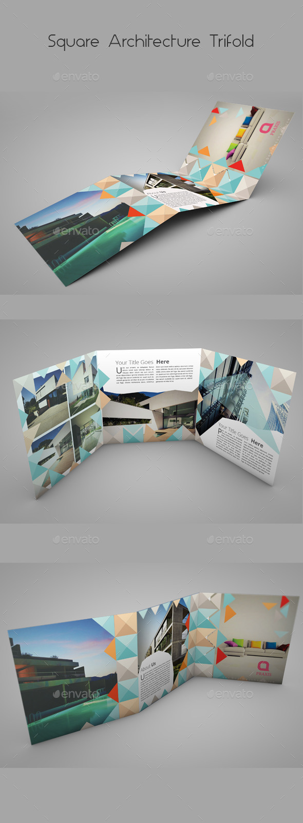 GraphicRiver Square Architecture Trifold 9826291