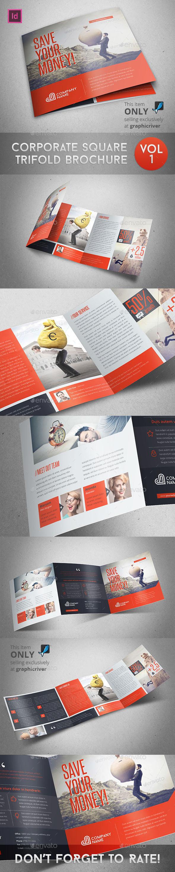 GraphicRiver Corporate Square Trifold Brochure 9826312