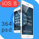 Phone6 Plus OS8 Style App UI Bundle - GraphicRiver Item for Sale