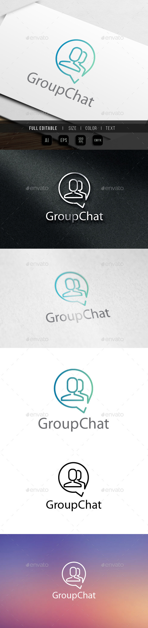 GraphicRiver Group Chat logo 9826414