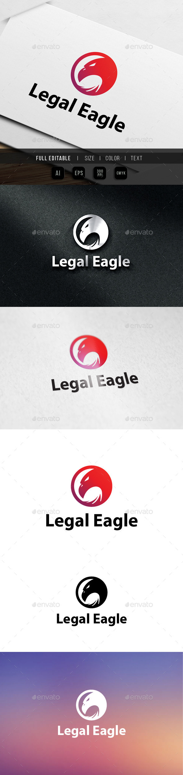 GraphicRiver Legal Eagle Logo 9826492