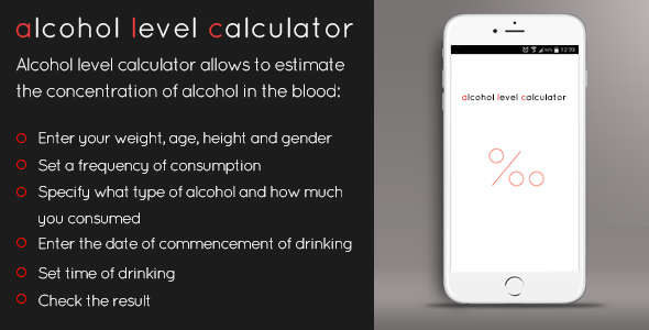 CodeCanyon Alcohol Level Calculator 9775652