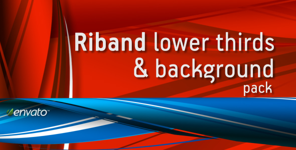 RIBAND lower thirds & background pack