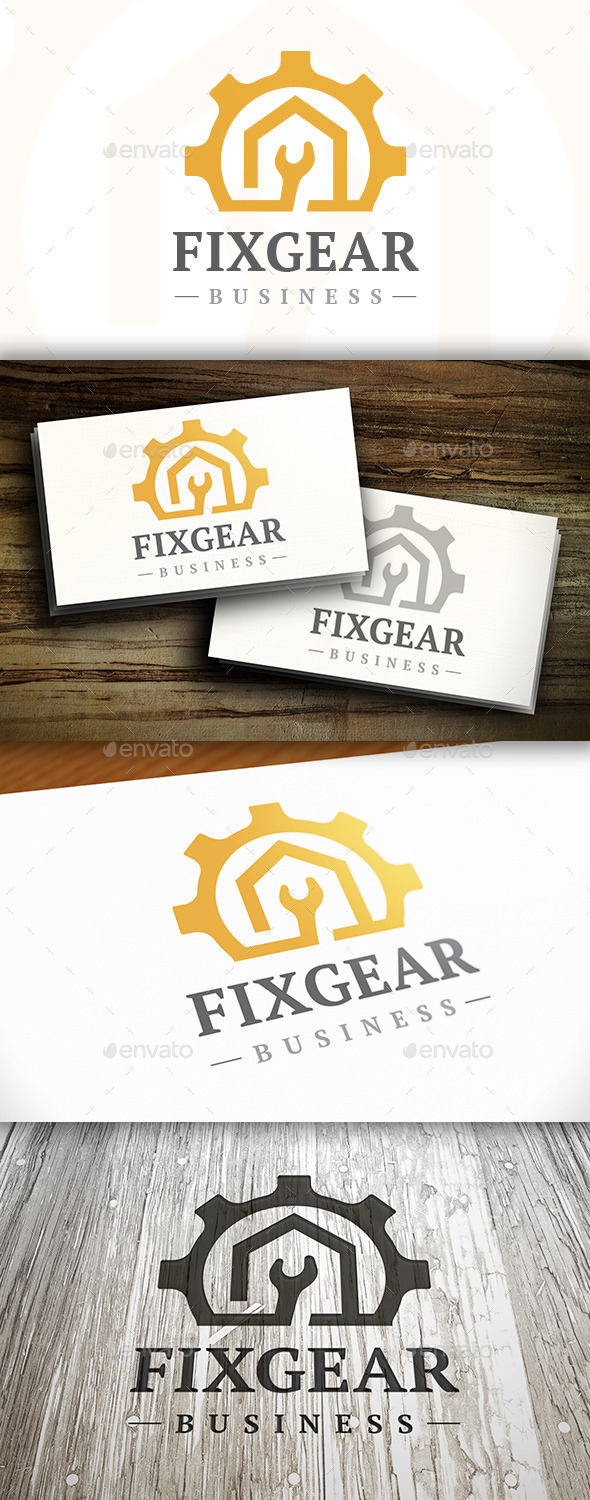 GraphicRiver Fix Gear Logo 9826849