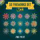 55 Fireworks Set - GraphicRiver Item for Sale