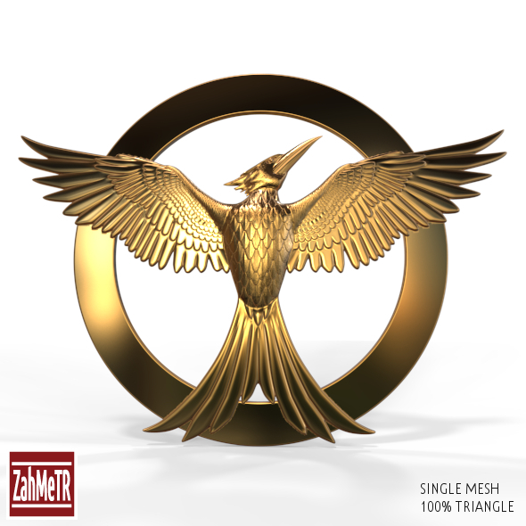 Mockingjay Bird 2 Single Mesh 3D Model