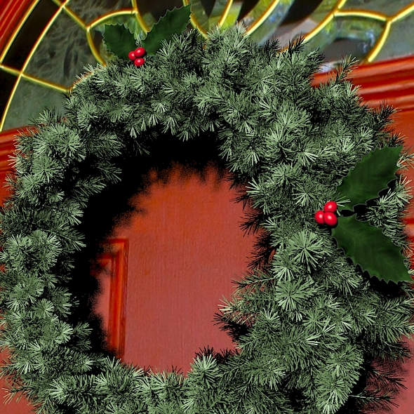 3DOcean Christmas Wreath 9827036