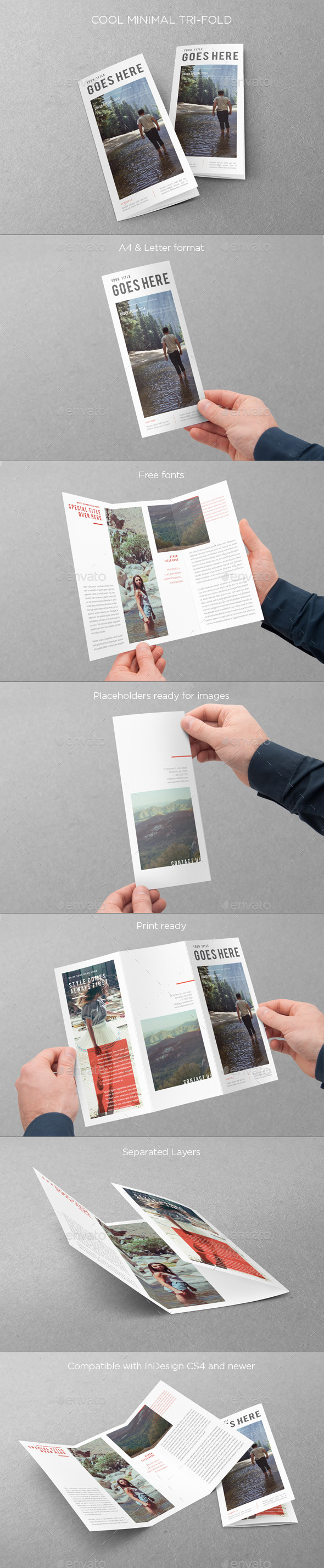 GraphicRiver Cool Minimal Trifold 9827049