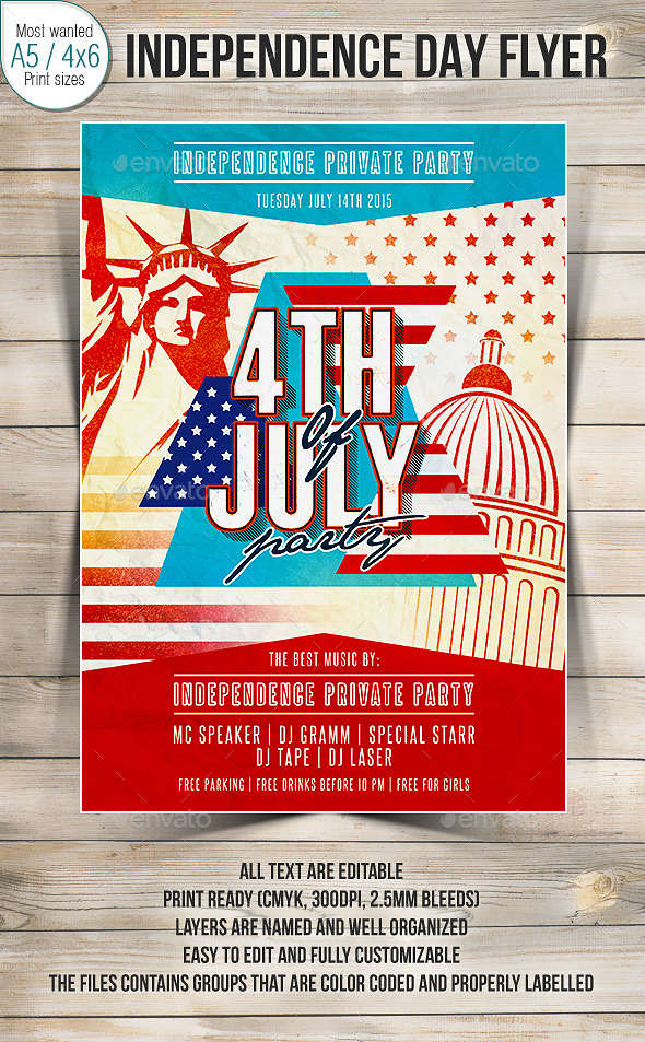 4th Of July Party Flyer 2