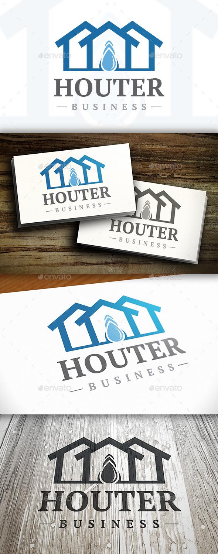 GraphicRiver Drop House Logo 9827207