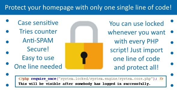 CodeCanyon Locked Protect your homepage 9827222