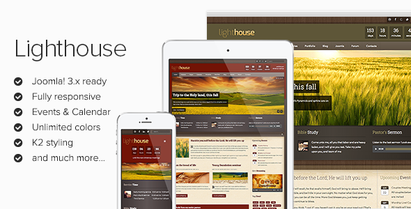 Lighthouse - Responsive Joomla Template - Screenshot 01 - Lighthouse Responsive Joomla! 3 Template