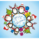 Merry Christmas Card with Penguins - GraphicRiver Item for Sale