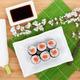 Sushi maki set and sakura branch - PhotoDune Item for Sale