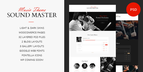 ThemeForest Sound Master Music Band Template 9827512