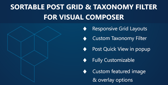 Visual Composer - Sortable Grid & Taxonomy filter - CodeCanyon Item for Sale