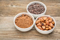 cacao beans, nibs and powder - PhotoDune Item for Sale