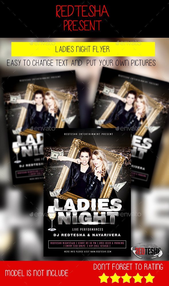 GraphicRiver Ladies Night Flyer 9827844