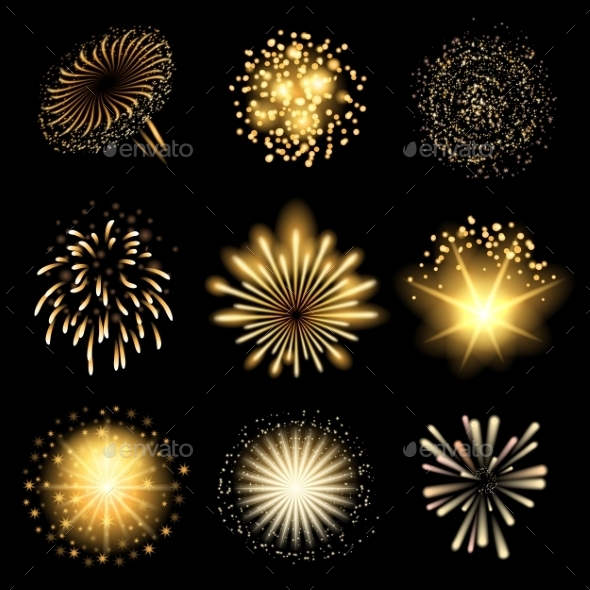 GraphicRiver Fireworks Set 9827855