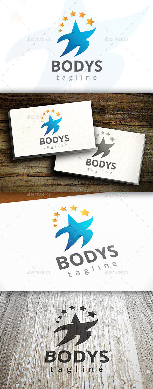 GraphicRiver Body Star Logo 9827862