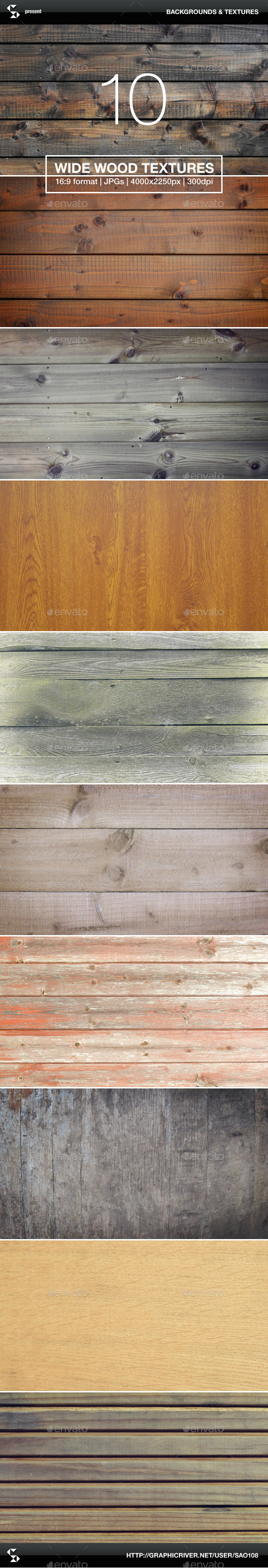 GraphicRiver 10 Wide Wood Textures Wood Backgrounds 9827966