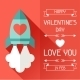 Happy Valentine's Illustration in Flat Style. - GraphicRiver Item for Sale