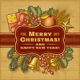 Merry Christmas Retro Card Brown - GraphicRiver Item for Sale