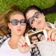 Best friends taking selfies - PhotoDune Item for Sale