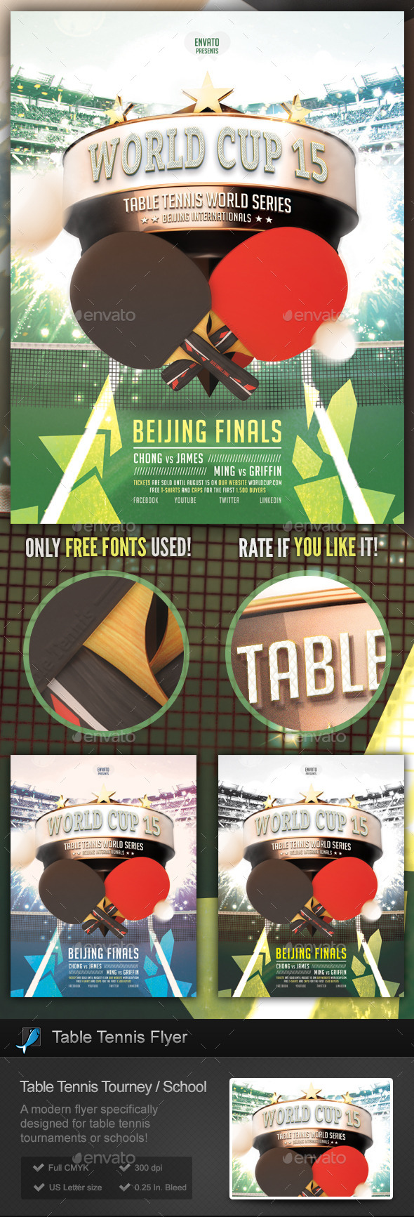 GraphicRiver Table Tennis Tournament School Flyer 9828170