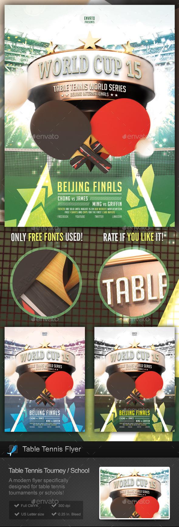 GraphicRiver Table Tennis Tournament School Flyer 9828170