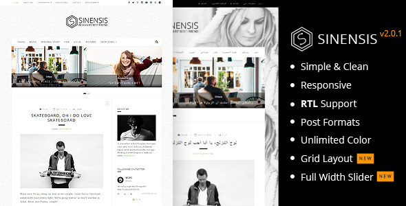 Sinensis Simple and Readable Blog Theme