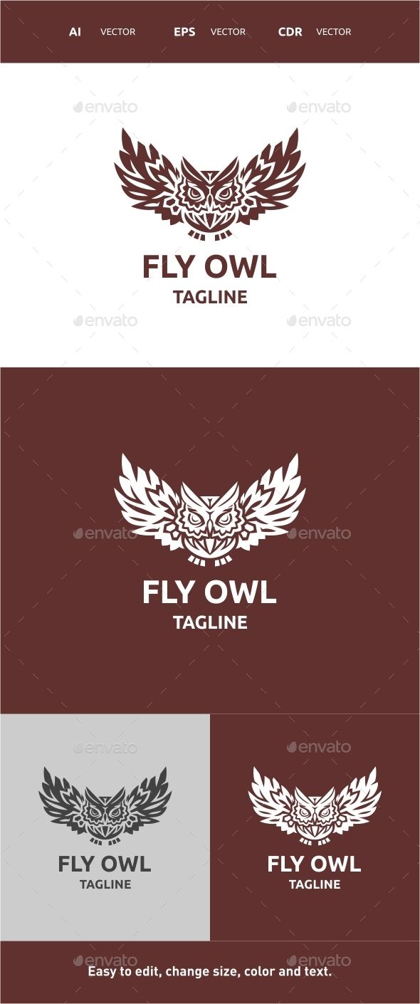 GraphicRiver Fly Owl 9828357