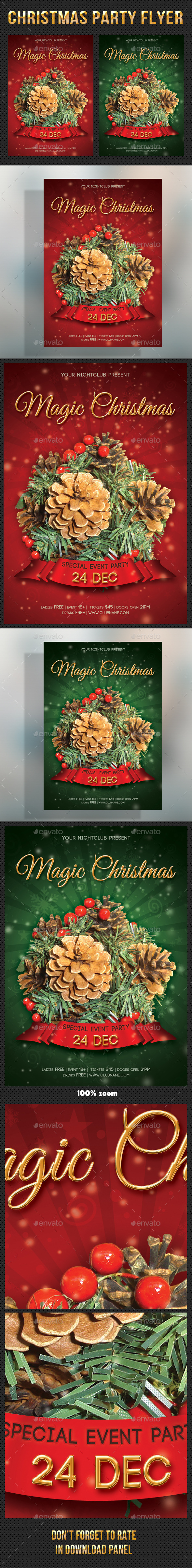 GraphicRiver Merry Christmas Party Flyer 04 9828555