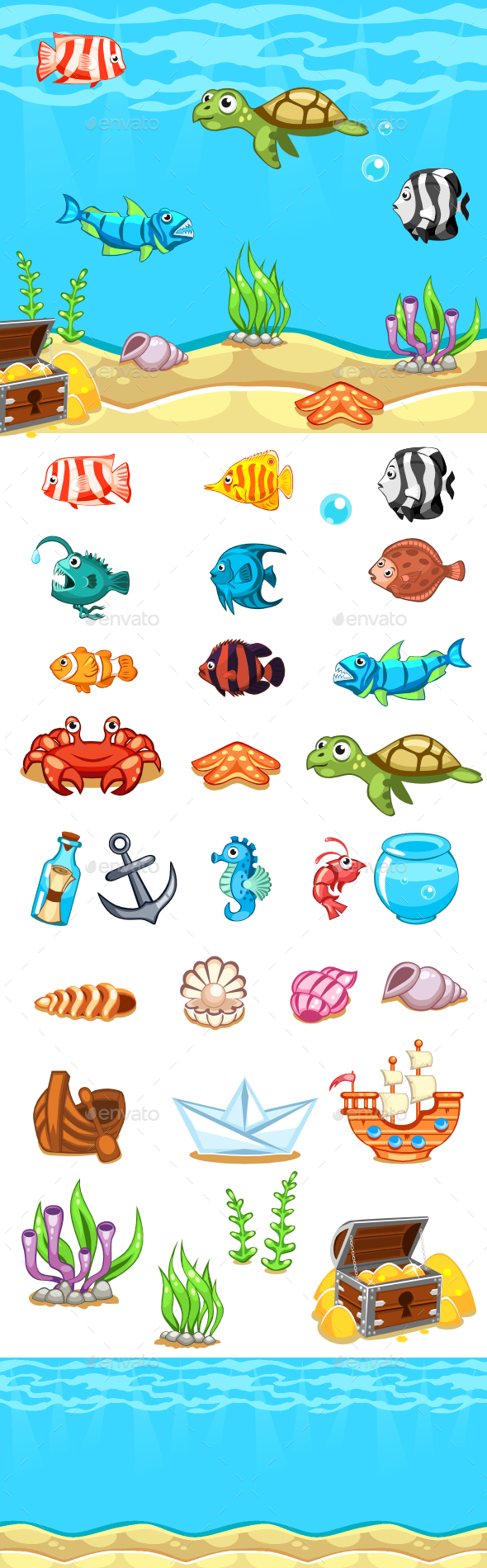 GraphicRiver Underwater World Pack 9828557