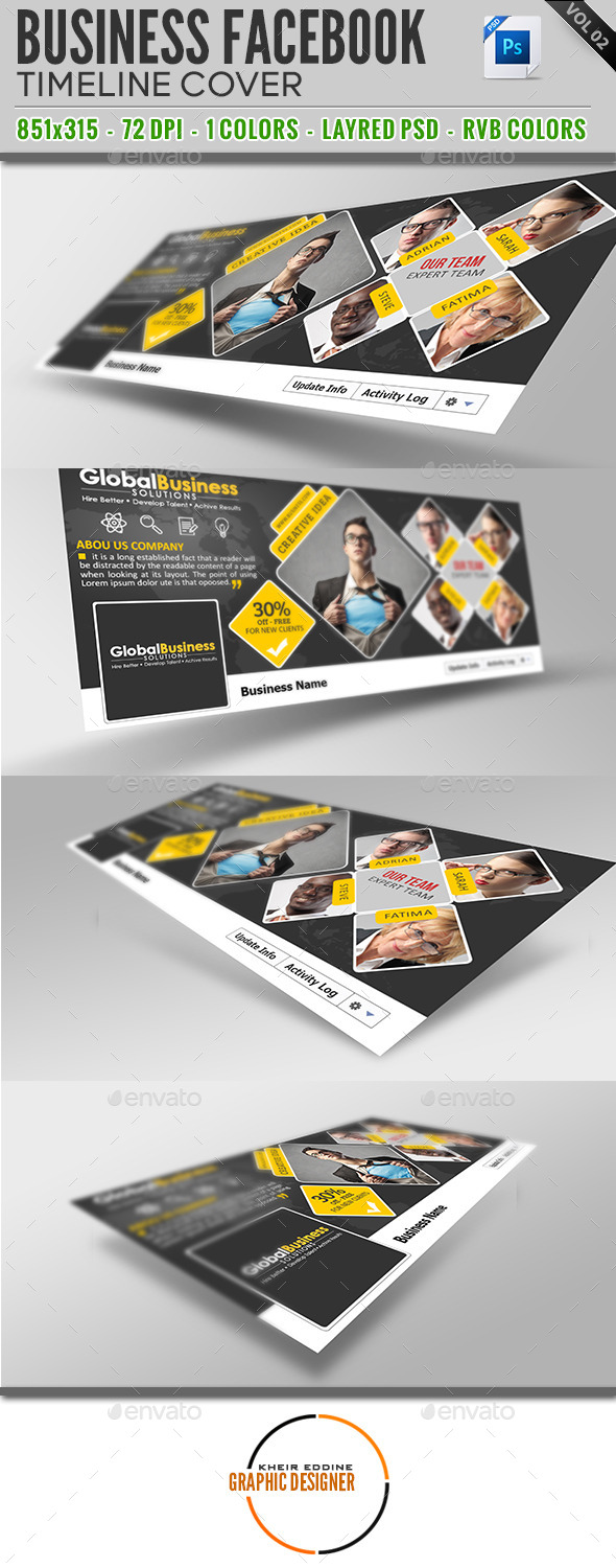 GraphicRiver Corporate Business Facebook Timeline Covers Vol 02 9828642
