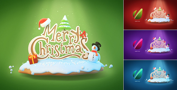 Christmas & New Year Greeting Card Logo Reveal
