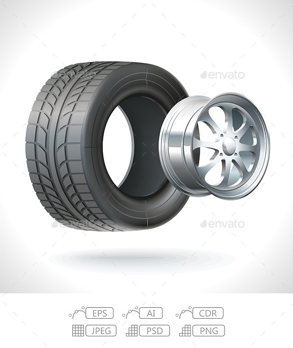 GraphicRiver Car Tire 9828743