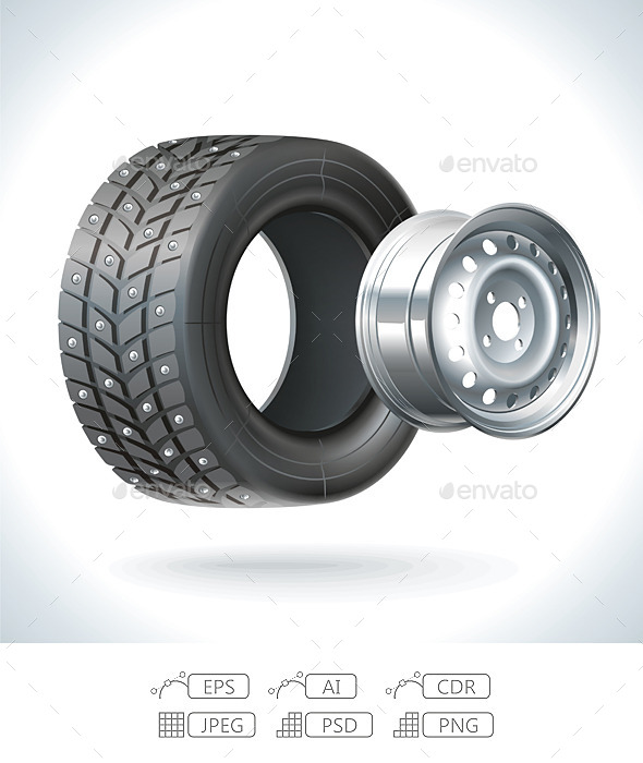 GraphicRiver Winter Car Tire 9828750