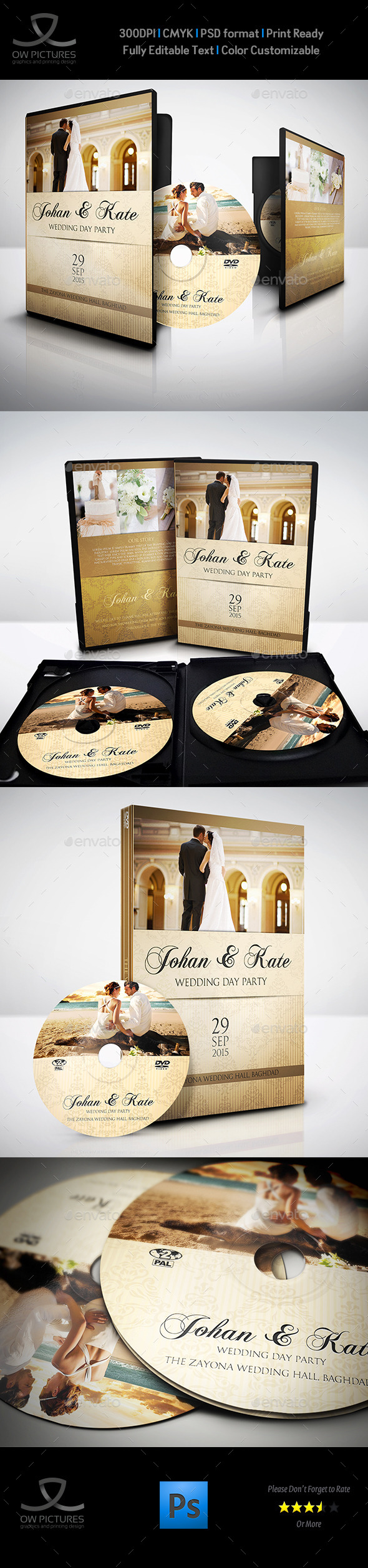 GraphicRiver Wedding DVD Cover and DVD Label Template Vol.4 9828863