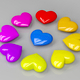 Colorful shiny hearts - PhotoDune Item for Sale
