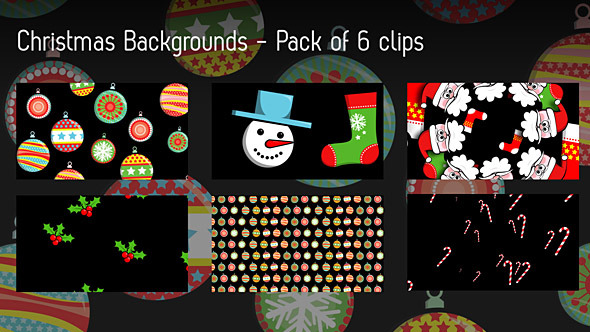 Christmas Backgrounds Pack Of 6